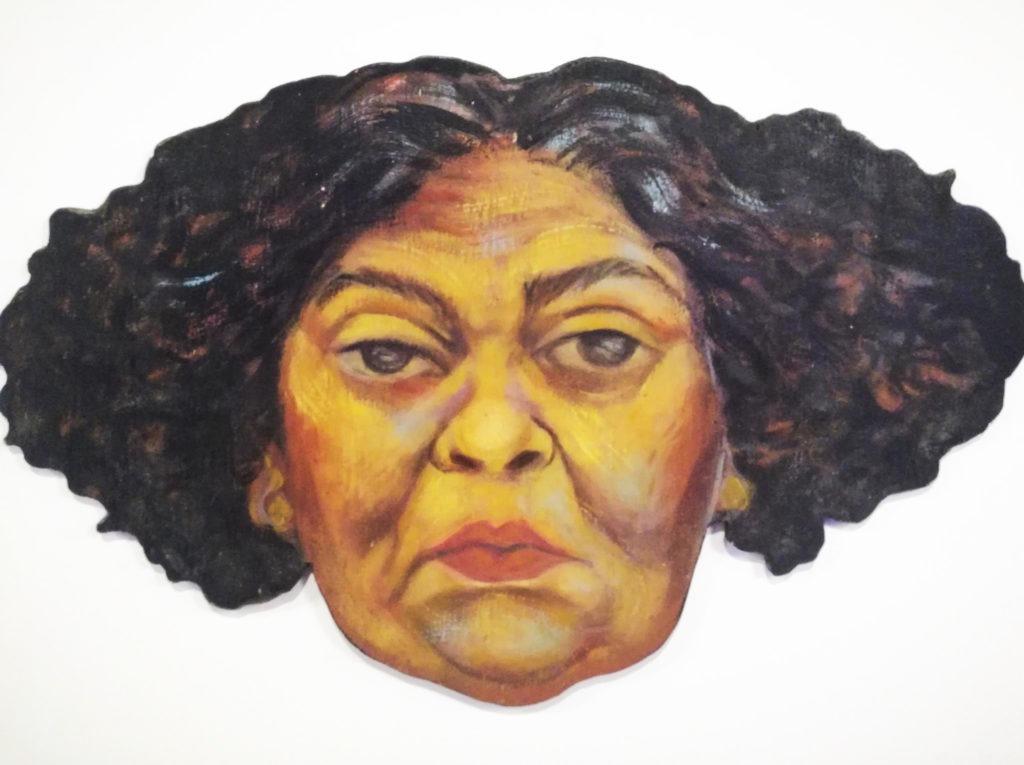 autorretrato com duas orelhas, 2004 - óleo sobre madeira recortada 0 acervo núcleo Magliani - foto Daniel Wagner
