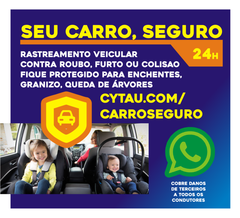 Carro Seguro Cytau a partir de R$ 84,90 mensais