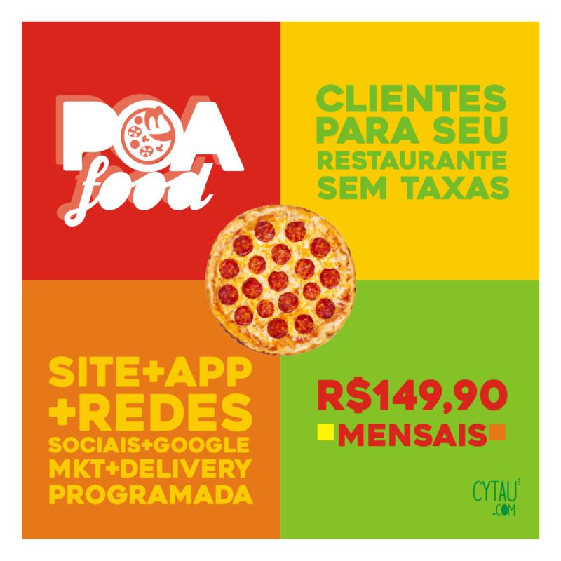 poafood app tele entrega estabelecimentos porto alegre