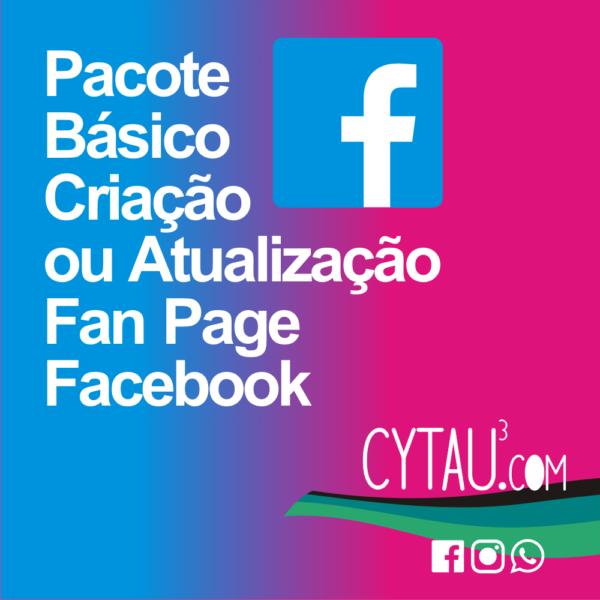 pacote básico criação ou atualização fan page facebook